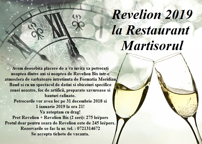Masa festiva Revelion 2019